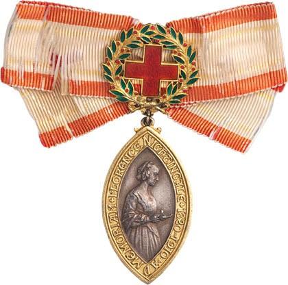 Медаль Флоренс Найтингейл - названа в честь знаменитой сестры милосердия из Англии, горячо преданной своему делу и спасшей множество жизней